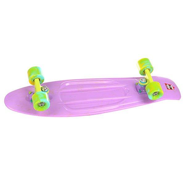 Скейт мини круизер Пластборд Smoke Plum Purple 7.5 x 28 (71.1 см)Пластборд Юнион(Union) - это пластиковый скейтборд-круизер с загнутым хвостом для передвижения по городу и трюкачества. Очень прочная дека, качественные подвески, подшипники и колеса сделают вашу езду плавной и комфортной. Технические характеристики: Дека из прочного полиуретана повышенной прочности и эластичности. Подвески изалюминия. Бушинги Union 89А. Подшипники -Union Water Prof Abec7 (водонепроницаемаяконструкция). Колеса - круизного типа Union Virage диаметром 59 мм с стандартной мягкостью 83А. Нестирающееся цепкое покрытие. Различные расцветки в ассортименте.<br><br>Цвет: фиолетовый<br>Тип: Скейт мини круизер