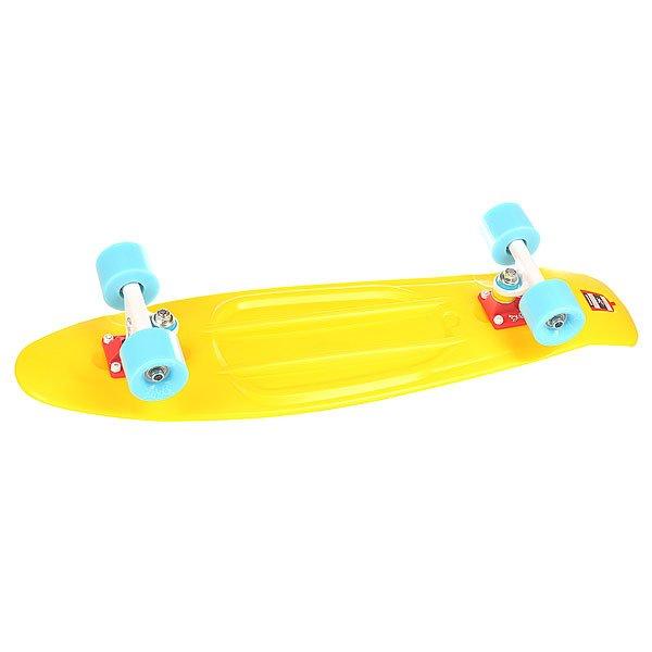 Скейт мини круизер Union Macron Yellow 7.5 x 28 (71.1 см)Пластборд Юнион(Union) - это пластиковый скейтборд-круизер с загнутым хвостом для передвижения по городу и трюкачества. Очень прочная дека, качественные подвески, подшипники и колеса сделают вашу езду плавной и комфортной. Технические характеристики: Дека из прочного полиуретана повышенной прочности и эластичности. Подвески изалюминия. Бушинги Union 89А. Подшипники -Union Water Prof Abec7 (водонепроницаемаяконструкция). Колеса - круизного типа Union Virage диаметром 59 мм с стандартной мягкостью 83А. Нестирающееся цепкое покрытие. Различные расцветки в ассортименте.<br><br>Цвет: желтый<br>Тип: Скейт мини круизер