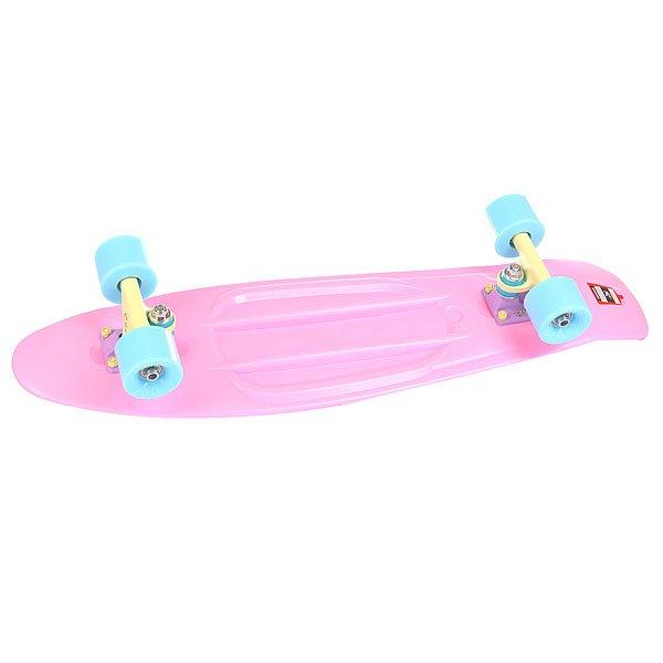 Скейт мини круизер Union Pastel Sweet Pink 7.5 x 28 (71.1 см)Пластборд Юнион(Union) - это пластиковый скейтборд-круизер с загнутым хвостом для передвижения по городу и трюкачества. Очень прочная дека, качественные подвески, подшипники и колеса сделают вашу езду плавной и комфортной. Технические характеристики: Дека из прочного полиуретана повышенной прочности и эластичности. Подвески изалюминия. Бушинги Union 89А. Подшипники -Union Water Prof Abec7 (водонепроницаемаяконструкция). Колеса - круизного типа Union Virage диаметром 59 мм с стандартной мягкостью 83А. Нестирающееся цепкое покрытие. Различные расцветки в ассортименте.<br><br>Цвет: розовый<br>Тип: Скейт мини круизер<br>Возраст: Взрослый<br>Пол: Мужской
