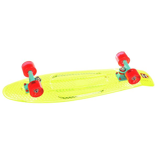Скейт мини круизер Пластборд Transp Grass Green 7.5 x 28 (71.1 см)Пластборд Юнион (Union) - это пластиковый скейтборд-круизер с загнутым хвостом для передвижения по городу и трюкачества. Очень прочная дека, качественные подвески, подшипники и колеса сделают вашу езду плавной и комфортной. Технические характеристики: Дека из прочного полиуретана повышенной прочности и эластичности. Подвески из алюминия. Бушинги Union 89А. Подшипники - Union Water Prof Abec7 (водонепроницаемая конструкция). Колеса - круизного типа Union Virage диаметром 59 мм с стандартной мягкостью 83А. Колеса, которые светятся при езде.Нестирающееся цепкое покрытие. Различные расцветки в ассортименте.<br><br>Цвет: зеленый<br>Тип: Скейт мини круизер