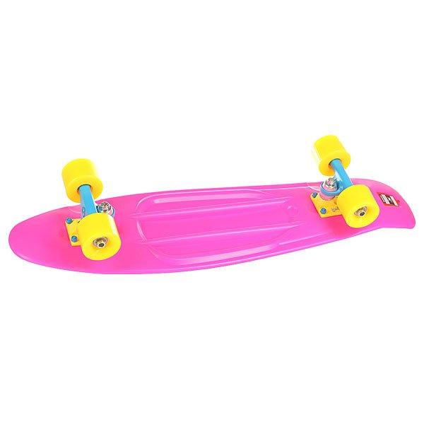 Скейт мини круизер Пластборд Neon Lips Pink 7.5 x 28 (71.1 см)Пластборд Юнион(Union) - это пластиковый скейтборд-круизер с загнутым хвостом для передвижения по городу и трюкачества. Очень прочная дека, качественные подвески, подшипники и колеса сделают вашу езду плавной и комфортной. Технические характеристики: Дека из прочного полиуретана повышенной прочности и эластичности. Подвески изалюминия. Бушинги Union 89А. Подшипники -Union Water Prof Abec7 (водонепроницаемаяконструкция). Колеса - круизного типа Union Virage диаметром 59 мм с стандартной мягкостью 83А. Нестирающееся цепкое покрытие. Различные расцветки в ассортименте.<br><br>Цвет: розовый<br>Тип: Скейт мини круизер
