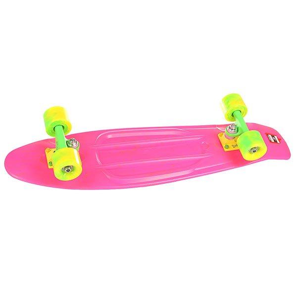 Скейт мини круизер Пластборд Smoke Rave Pink 7.5 x 28 (71.1 см)Пластборд Юнион(Union) - это пластиковый скейтборд-круизер с загнутым хвостом для передвижения по городу и трюкачества. Очень прочная дека, качественные подвески, подшипники и колеса сделают вашу езду плавной и комфортной. Технические характеристики: Дека из прочного полиуретана повышенной прочности и эластичности. Подвески изалюминия. Бушинги Union 89А. Подшипники -Union Water Prof Abec7 (водонепроницаемаяконструкция). Колеса - круизного типа Union Virage диаметром 59 мм с стандартной мягкостью 83А. Нестирающееся цепкое покрытие. Различные расцветки в ассортименте.<br><br>Цвет: розовый<br>Тип: Скейт мини круизер