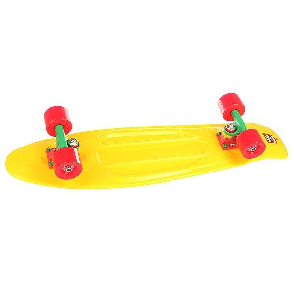 Скейт мини круизер Пластборд Jah Yellow 7.5 x 28 (71.1 см)Пластборд Юнион(Union) - это пластиковый скейтборд-круизер с загнутым хвостом для передвижения по городу и трюкачества. Очень прочная дека, качественные подвески, подшипники и колеса сделают вашу езду плавной и комфортной. Технические характеристики: Дека из прочного полиуретана повышенной прочности и эластичности. Подвески изалюминия. Бушинги Union 89А. Подшипники -Union Water Prof Abec7 (водонепроницаемаяконструкция). Колеса - круизного типа Union Virage диаметром 59 мм с стандартной мягкостью 83А. Нестирающееся цепкое покрытие. Различные расцветки в ассортименте.<br><br>Цвет: желтый<br>Тип: Скейт мини круизер