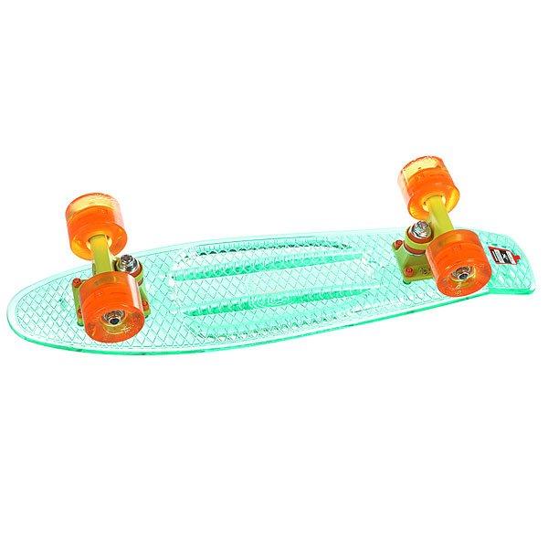 Скейт мини круизер Union Transp Fresh Aqua 6 x 22.5 (57.2 см)Пластборд Юнион (Union) - это пластиковый скейтборд-круизер с загнутым хвостом для передвижения по городу и трюкачества. Очень прочная дека, качественные подвески, подшипники и колеса сделают вашу езду плавной и комфортной. Технические характеристики: Дека из прочного полиуретана повышенной прочности и эластичности. Подвески из алюминия. Бушинги Union 89А. Подшипники - Union Water Prof Abec7 (водонепроницаемая конструкция). Колеса - круизного типа Union Virage диаметром 59 мм с стандартной мягкостью 83А. Колеса, которые светятся при езде.Нестирающееся цепкое покрытие. Различные расцветки в ассортименте.<br><br>Цвет: голубой<br>Тип: Скейт мини круизер<br>Возраст: Взрослый<br>Пол: Мужской