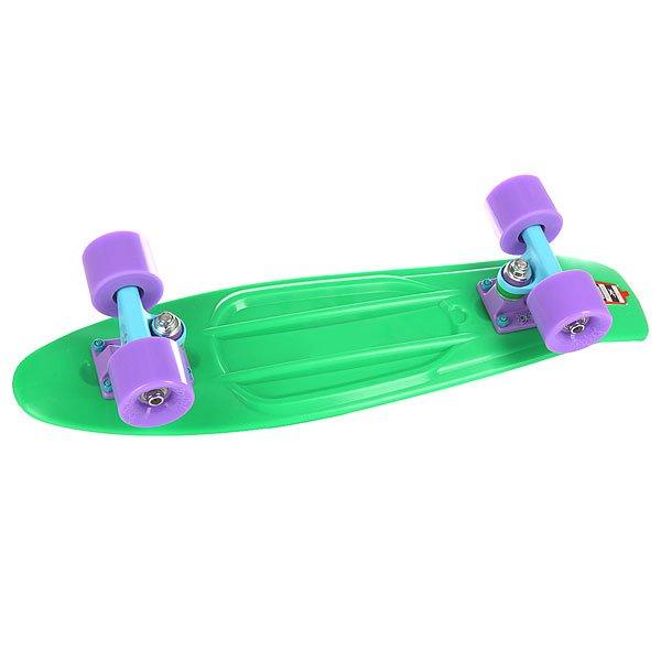 Скейт мини круизер Пластборд Grass Green 6 x 22.5 (57.2 см)Пластборд Юнион(Union) - это пластиковый скейтборд-круизер с загнутым хвостом для передвижения по городу и трюкачества. Очень прочная дека, качественные подвески, подшипники и колеса сделают вашу езду плавной и комфортной. Технические характеристики: Дека из прочного полиуретана повышенной прочности и эластичности. Подвески изалюминия. Бушинги Union 89А. Подшипники -Union Water Prof Abec7 (водонепроницаемаяконструкция). Колеса - круизного типа Union Virage диаметром 59 мм с стандартной мягкостью 83А. Нестирающееся цепкое покрытие. Различные расцветки в ассортименте.<br><br>Цвет: зеленый<br>Тип: Скейт мини круизер