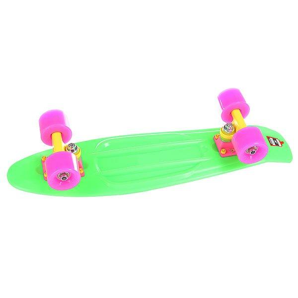 Скейт мини круизер Union Neon Frog Green 6 x 22.5 (57.2 см)