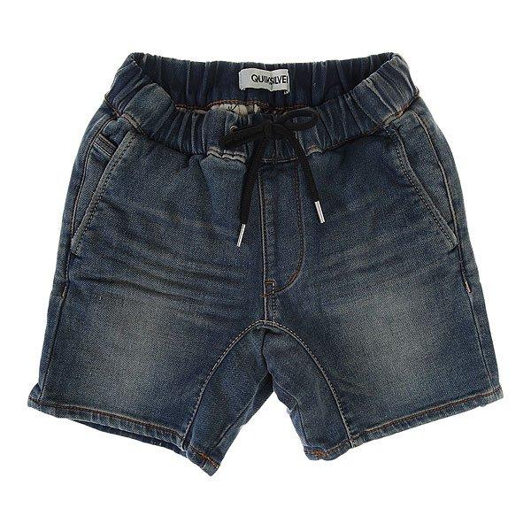 Шорты джинсовые детские Quiksilver Fonic Den Shorty Worn Wash<br><br>Цвет: синий<br>Тип: Шорты джинсовые<br>Возраст: Детский