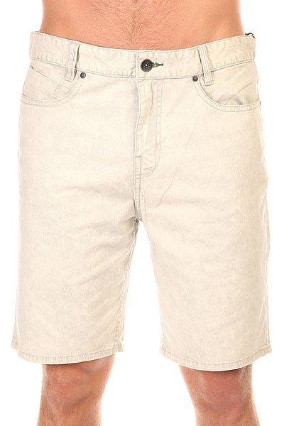 Шорты классические Billabong Outsider Washed SilverМужские джинсовые шорты прямого кроя в винтажном стиле.Технические характеристики: Эластичный хлопок.Прямой крой.Карманы для рук.Карман для мелочи.Задние карманы.Петли для ремня.Молния Zip fly.Легкая винтажная обработка.Нашивка с логотипом  Billabong.<br><br>Цвет: серый<br>Тип: Шорты классические<br>Возраст: Взрослый<br>Пол: Мужской