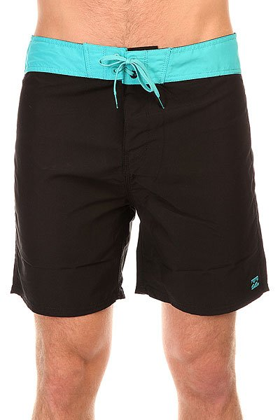 Шорты пляжные Billabong All Day Shortcut 17 Black/Aqua