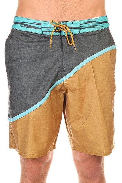 Шорты пляжные Billabong Pulse Lo Tides 19 MustardШорты, которые сочетают в себе стиль бордшорт и современные технологии в тканях и крое. Pulse Lo Tides - эластичные шорты в ретро стиле.Технические характеристики: PCX - переработанная эластичная ткань.Короткий и современный крой с изогнутыми панелями.Пояс на шнуровке для удобной регулировки.Боковые карманы для рук и задний карман с клапаном.Контрастный дизайн.Логотип Billabong.<br><br>Цвет: коричневый,серый,голубой<br>Тип: Шорты пляжные<br>Возраст: Взрослый<br>Пол: Мужской