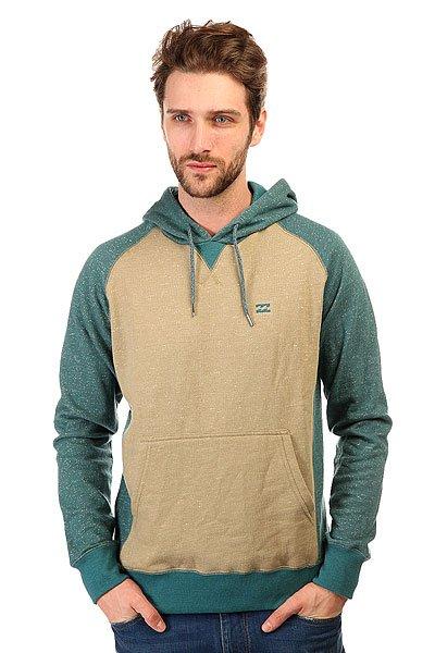 Толстовка кенгуру Billabong Balance Hood Ocean<br><br>Цвет: бежевый,синий<br>Тип: Толстовка кенгуру<br>Возраст: Взрослый<br>Пол: Мужской