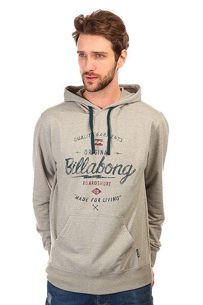Толстовка кенгуру Billabong Chopper Hood Neutral Grey