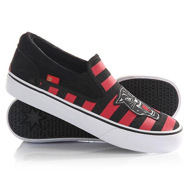 Слипоны женские DC Trase Slip-on X Red/Black