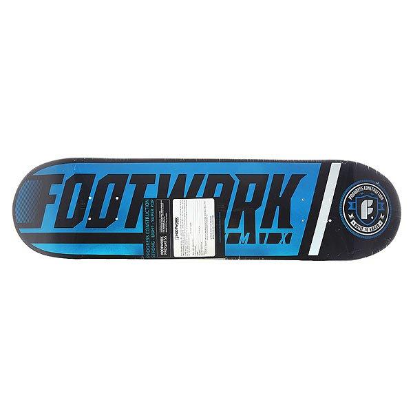 Дека для скейтборда для скейтборда Footwork Progress Shred Cyan Black 31.4 x 8.125 (20.6 см)