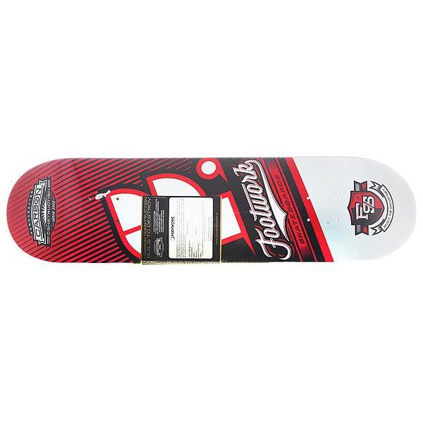Дека для скейтборда для скейтборда Footwork Carbon Custom Red/Black 31.6 x 8 (20.3 см)Carbon Construction.Характеристики:Уникальная конструкция: 7 слоев канадского клена + верхний слой из углеродного волокна (Carbonfiber).Мощнейший щелчок.Клеевой состав «SLP RESIN».Глубокий конкейв.<br><br>Цвет: красный,черный,белый<br>Тип: Дека для скейтборда