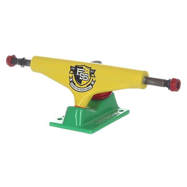 Подвески для скейтборда для скейтборда 2шт. Footwork Force Rasta 5.25 (20.3 см)Каждый год компания Footwork улучшает и модернезирует свои подвески, добавляя изменения в конструкцию, используя различные дизайны и цвета. В этом году главным новшеством стали улучшенные резинки!Характеристики:Размерная сетка подвесок: ширина деки 7.5-7.875 – ширина подвески 5 / ширина деки 7.875-8.125 – ширина подвески 5.25 / ширина деки 8.125-8.375 – ширина подвески 5.375.<br><br>Цвет: желтый,зеленый<br>Тип: Подвески для скейтборда