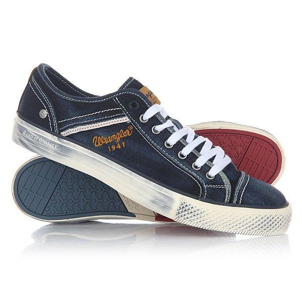 Кеды кроссовки низкие Wrangler Starry Low Denim Blue Denim