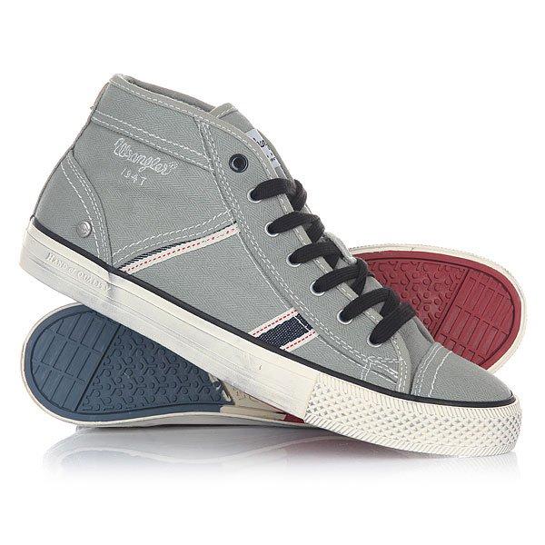 Кеды кроссовки высокие Wrangler Starry Mid Canvas Lt Grey
