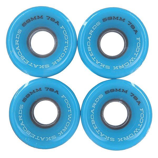 Колеса для скейтборда для лонгборда Footwork Road Runners Black/Blue 78A 59 mmФорма CRUISER SHAPE:Классическая форма колес для круизеров и лонгбордов. Мягкие и комфортные, сделают из любой доски круизер для передвижения по городу.Характеристики:Жесткость 78A: мягкие.<br><br>Цвет: голубой<br>Тип: Колеса для лонгборда