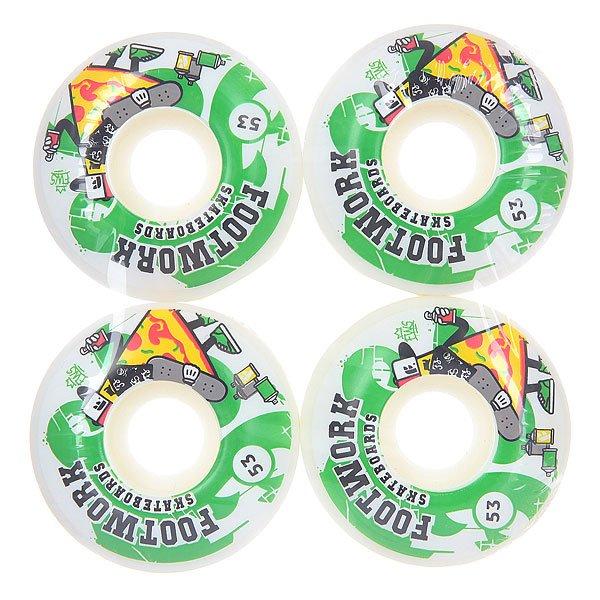 Колеса для скейтборда для скейтборда Footwork Crispy White 100A 53 mm