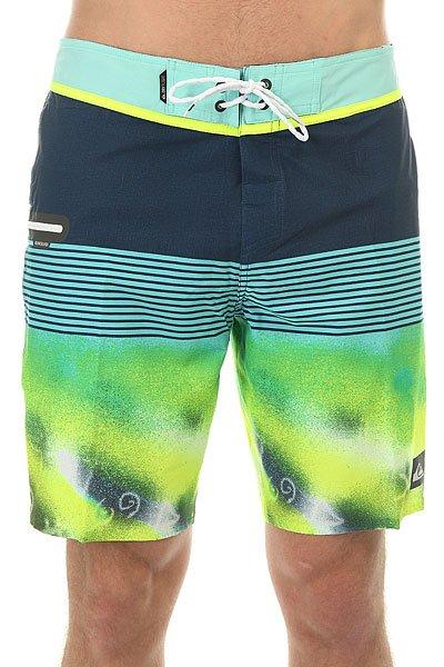 Шорты пляжные Quiksilver Ag47remix19 Remix Dark Deni<br><br>Цвет: синий,зеленый,голубой<br>Тип: Шорты пляжные<br>Возраст: Взрослый<br>Пол: Мужской
