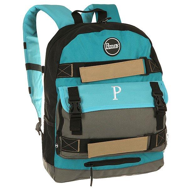 Рюкзак спортивный Penny Bag Blue 2015 Blue/Grey/BlackВозьмите веселые летние флюиды с собой! Рюкзак Penny bag идеально подойдет для Вашего круизера Penny, а также для ежедневной носки в городе. Будьте полностью экипированы даже в каменных джунглях, но со вкусом!Характеристики:Внешние крепления для Penny 22? или 27?.Мягкий отсек для ноутбука с диагональю до 15 дюймов. Карман для планшета. Карман для телефона. Несколько внешних и внутренних карманов. Сетчатые карманы для бутылки. Состав: 600D полиэстер.<br><br>Цвет: голубой,зеленый,черный<br>Тип: Рюкзак спортивный<br>Возраст: Взрослый