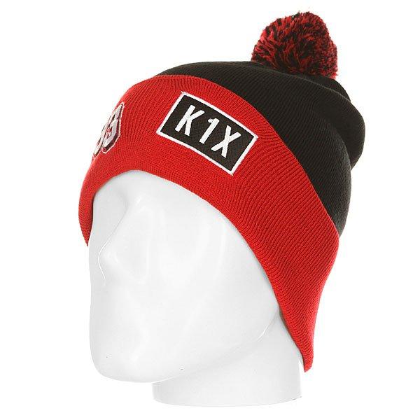 Шапка K1X Bommel Beanie 93 Black/Red<br><br>Цвет: черный,красный<br>Тип: Шапка<br>Возраст: Взрослый<br>Пол: Мужской
