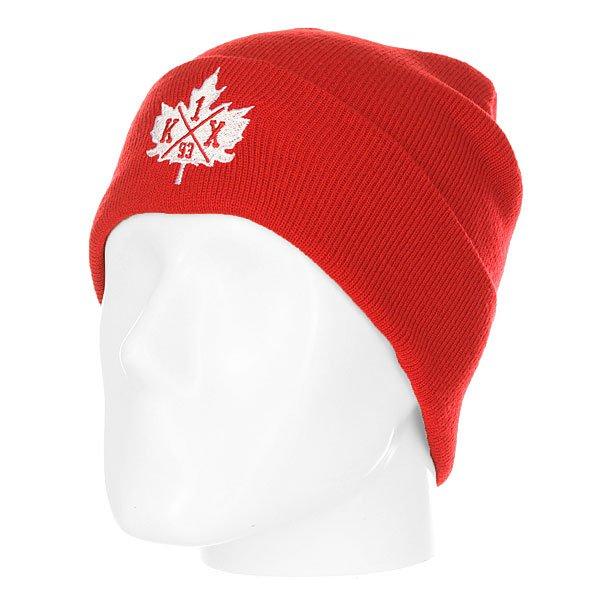 Шапка K1X Classic Leaf Beanie Red/White<br><br>Цвет: красный<br>Тип: Шапка<br>Возраст: Взрослый<br>Пол: Мужской