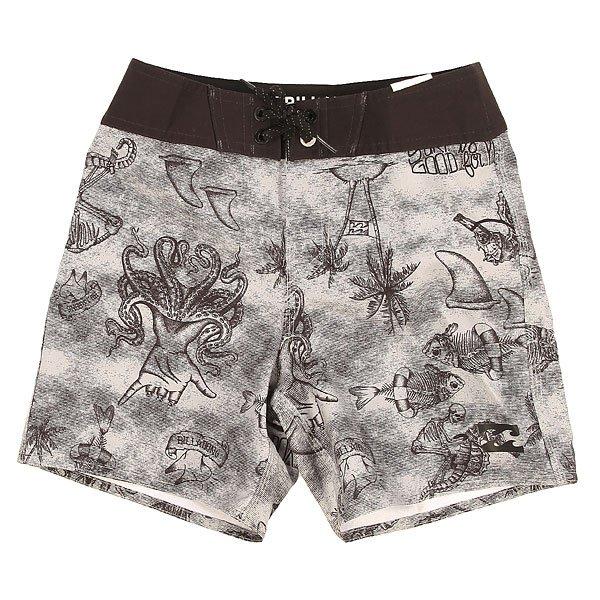 Шорты пляжные детские Billabong Trunk X Boy 15 Neutral GreyКороткие пляжные шорты из эластичной ткани с необычным принтом, в которых Вы точно не останетесь без внимания!Технические характеристики: Эластичный полиэстер.Повторяющийся сплошной принт.Контрастный пояс на шнуровке.Задний карман с клапаном и логотипом.Логотип Billabong.<br><br>Цвет: черный,серый<br>Тип: Шорты пляжные<br>Возраст: Детский