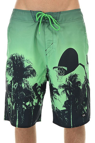 Шорты пляжные K1X Paradise Boardshorts Green/Black