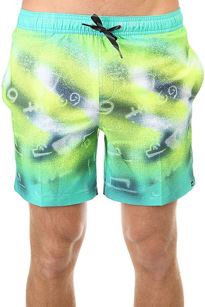 Шорты пляжные Quiksilver Glitched 17 Pool Green