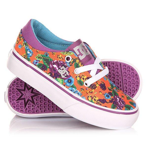 Кеды кроссовки низкие детские DC Trase Kids Sp Multi dc shoes кеды dc heathrow se 11