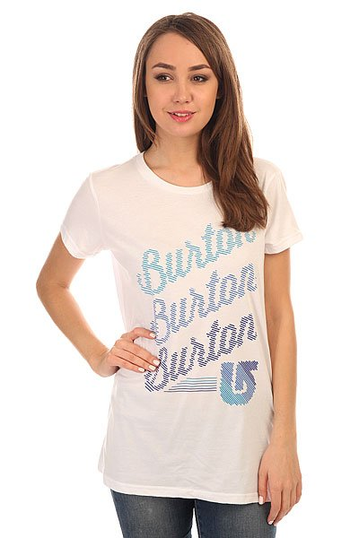 Футболка женская Burton Dashed Stout White