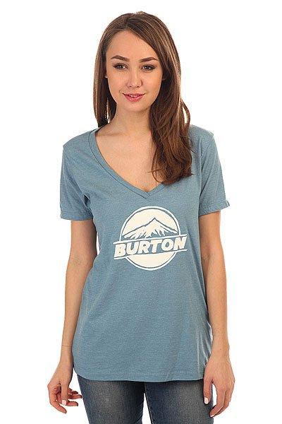 Футболка женская Burton Peaked Rec Heather Blue Shadow<br><br>Цвет: голубой<br>Тип: Футболка<br>Возраст: Взрослый<br>Пол: Женский