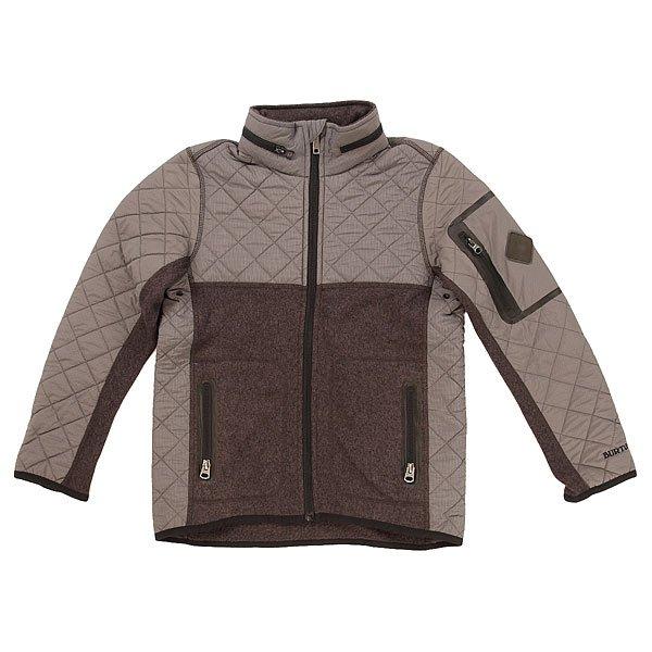 Куртка детская Burton Pierce Fleece Black Heather<br><br>Цвет: серый<br>Тип: Куртка<br>Возраст: Детский