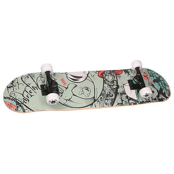 Скейтборд в сборе Fun4U Get Me Multi 31.6 x 7.9 (20 см)Простенький скейтборд начального уровня для любого возраста. Как дети, так и взрослые без труда смогут освоить базовые элементы передвижения с помощью этой доски. Также если вам хочется изучить простенькие трюки на рампах, то этот скейтборд подойдёт для этого как нельзя лучше.Характеристики:Дека:китайский клен 8 слоев. Двойной конкейв. Подвеска:алюминий. Колеса:54х36 мм, жесткость 88 А. Треки: 5 seagull. Подшипники: ABEC 3 carbon.Максимальная нагрузка – 80 кг.<br><br>Цвет: мультиколор<br>Тип: Скейтборд в сборе