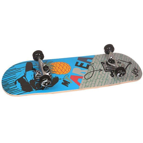 Скейтборд в сборе детский детский Fun4U Cool Pineapple Blue 28 x 8 (20.3 см) скейтборд 8 колес