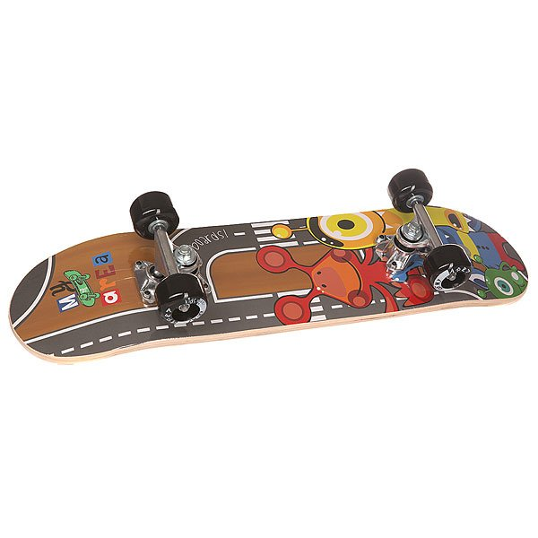 Скейтборд в сборе детский Fun4U Little Monster Multi 24 x 6 (15.2 см)Этот скейтборд подойдёт для тех детей, которые уже умеют держать равновесие и хотят научиться передвигаться с помощью доски. Для освоения техники катания и для понятия принципов передвижения на доске, этот скейтборд самое подходящее для вашего ребенка.Для детей 4-8 лет.Характеристики:Дека:китайский клен, 9 слоев. Двойной конкейв. Подвеска:алюминий. Колеса:50х36 мм, жесткость 92 А. Треки: 3,5 Alu Trucks. Максимальная нагрузка – 40 кг.<br><br>Цвет: мультиколор<br>Тип: Скейтборд в сборе детский<br>Возраст: Детский