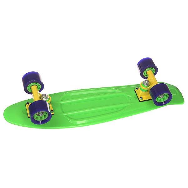Скейт мини круизер Taste Orboard Green 6 x 22.5 (57.2 см)Скейтборд Taste Orboard - уникальное средство передвижения по городу и отличный способ заявить о себе в скейтпарке. Характеристики: Дека:пластик.  Подвеска:алюминий, 6 дюймов. Колеса:59 мм х 45 мм, жесткость 85 А. Подшипники:ABEC-5. Максимальная нагрузка – 80 кг.<br><br>Цвет: зеленый<br>Тип: Скейт мини круизер