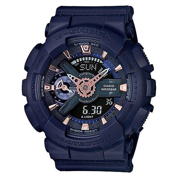 Электронные часы Casio G-Shock Gma-s110cm-2a BlueУдаропрочные, функциональные наручные часы в спортивном дизайне выполнены из полимерного пластика и обладают отличными техническими характеристиками.Технические характеристики: Автоматическая светодиодная подсветка.Ударопрочная конструкция защищает от ударов и вибрации.Функция мирового времени.Функция секундомера - 1/1000 сек. - 100 часов.Таймер - 1/1 мин. - 24 часа (с автоматическим повтором).5 ежедневных будильников.Функция повтора будильника.Отображение скорости.Автоматический календарь.12/24-часовое отображение времени.Минеральное стекло - прочное, устойчивое к царапинам минеральное стекло защищает часы от повреждений.Корпус из полимерного пластика.Ремешок из полимерного материала.Время работы аккумулятора - 2 года.Водонепроницаемость (20 Бар) до 200м.Точность +/- 15 секунд в месяц.<br><br>Цвет: синий<br>Тип: Электронные часы<br>Возраст: Взрослый<br>Пол: Мужской