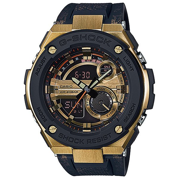 Электронные часы Casio G-Shock Gst-200cp-9a Black/YellowУдаропрочные, функциональные наручные часы в спортивном дизайне выполнены из нержавеющей стали и полимерного пластика, а также обладают отличными техническими характеристиками.Технические характеристики: Сверхмощная автоматическая подсветка LED.Ударопрочная конструкция защищает от ударов и вибрации.Неоновый дисплей.Функция мирового времени.Функция секундомера- 1/100 сек. - 24 часа.Таймер - 1/1 мин. - 1 час.5 ежедневных будильников.Функция повтора будильника.Включение/выключение звука кнопок.Автоматический календарь.12/24-часовое отображение времени.Минеральное стекло - прочное, устойчивое к царапинам минеральное стекло защищает часы от повреждений.Корпус из нержавеющей стали и полимерного пластика.Ремешок из полимерного материала.Время работы аккумулятора - 2 года.Водонепроницаемость (20 Бар) до 200м.Точность +/- 15 секунд в месяц.<br><br>Цвет: черный,желтый<br>Тип: Электронные часы<br>Возраст: Взрослый<br>Пол: Мужской