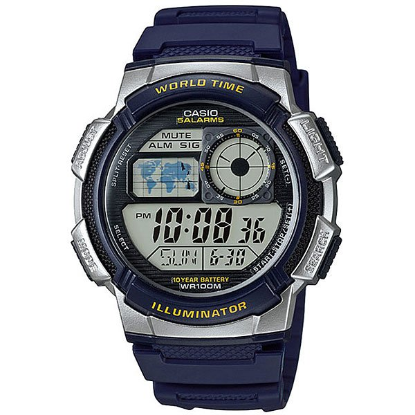Электронные часы Casio Collection Ae-1000w-2a Blue/Grey часы casio collection ae 1000wd 1a grey