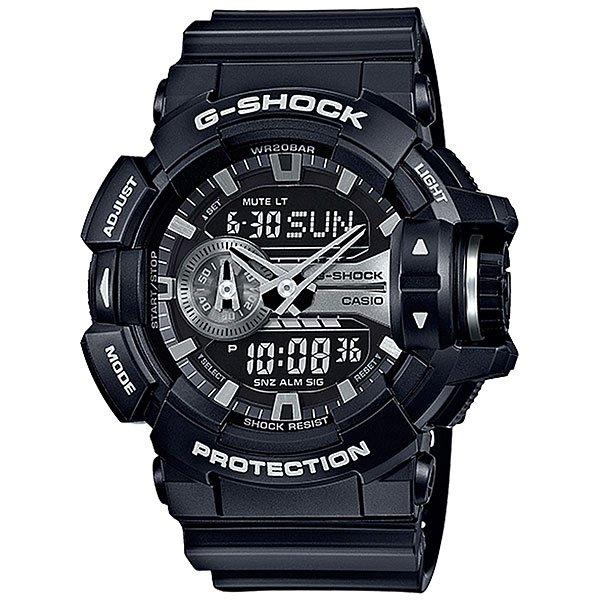 Электронные часы Casio G-Shock Ga-400gb-1a BlackУдаропрочные, функциональные наручные часы в спортивном дизайне выполнены из  полимерного пластика, а также обладают отличными техническими характеристиками.Технические характеристики: Автоматическая светодиодная подсветка.Ударопрочная конструкция защищает от ударов и вибрации.Функция мирового времени.Функция секундомера- 1/100 сек. - 24 часа.Таймер - 1/1 мин. - 1 час.5 ежедневных будильников.Включение/выключение звука кнопок.Функция колеса прокрутки.Функция перемещения стрелок.Автоматический календарь.12/24-часовое отображение времени.Минеральное стекло - прочное, устойчивое к царапинам минеральное стекло защищает часы от повреждений.Корпус из полимерного пластика.Ремешок из полимерного материала.Время работы аккумулятора - 3 года.Водонепроницаемость (20 Бар) до 200м.Точность +/- 15 секунд в месяц.<br><br>Цвет: черный<br>Тип: Электронные часы<br>Возраст: Взрослый<br>Пол: Мужской