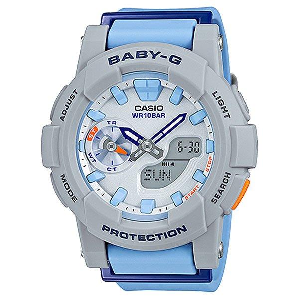 Электронные часы Casio Baby-g Bga-185-2a Grey/Light BlueУдаропрочные и функциональные наручные часы в стильном спортивном дизайне выполнены из полимерного пластика.Технические характеристики: Светодиодная подсветка.Ударопрочная конструкция защищает от ударов и вибрации.Функция мирового времени.Функция секундомера- 1/100 сек. - 1 час.Таймер - 1/1 мин. - 24 часа.5 ежедневных будильников.Включение/выключение звука кнопок.Функция перемещения стрелок.Автоматический календарь.12/24-часовое отображение времени.Минеральное стекло - прочное, устойчивое к царапинам минеральное стекло защищает часы от повреждений.Корпус из полимерного пластика.Ремешок из полимерного материала.Время работы аккумулятора - 2 года.Водонепроницаемость (10 Бар) до 100м.Точность +/- 30 секунд  в месяц.<br><br>Цвет: серый,голубой<br>Тип: Электронные часы<br>Возраст: Взрослый<br>Пол: Мужской