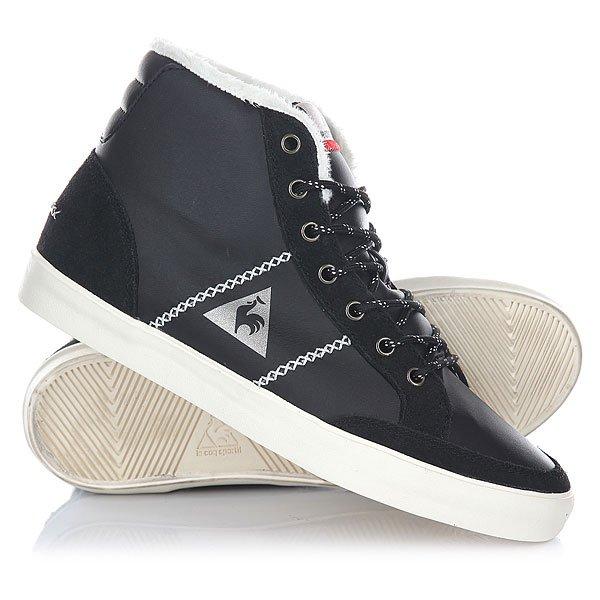 Кеды кроссовки утепленные женские Le Coq Sportif Mont Charlety Syn Leather Black кроссовки le coq sportif dynacomf text black