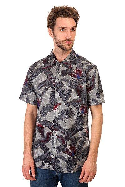 Рубашка Quiksilver Riot Shirts Steeple GreyМягкая и приятная к телу рубашка с традиционным гавайским принтом и нагрудным кармашком слева. Сшитая из тонкого натурального хлопка, лучше всего она подойдет для летнего времени года.Характеристики:Прямой крой. Короткий рукав. Сплошной принт. Застегивается на пуговицы. Нагрудный карман.<br><br>Цвет: серый<br>Тип: Рубашка<br>Возраст: Взрослый<br>Пол: Мужской