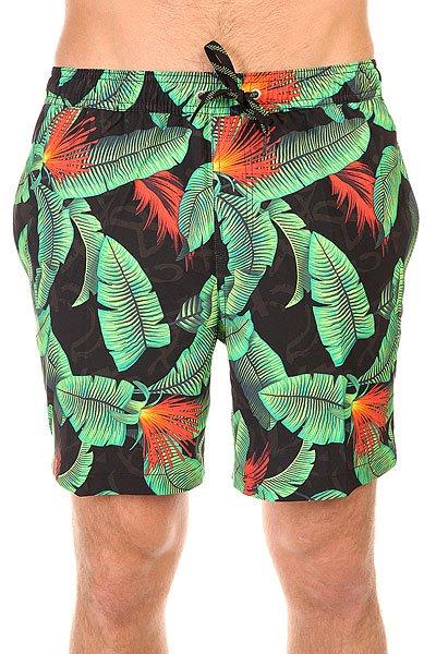 Шорты пляжные Quiksilver Glitched 17 Pool Green<br><br>Цвет: черный,зеленый<br>Тип: Шорты пляжные<br>Возраст: Взрослый<br>Пол: Мужской