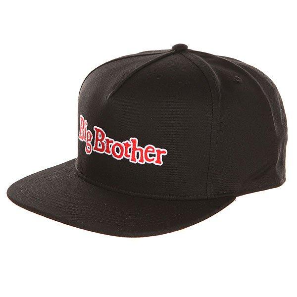 Бейсболка с прямым козырьком DC Big Brother Black<br><br>Цвет: черный<br>Тип: Бейсболка с прямым козырьком<br>Возраст: Взрослый<br>Пол: Мужской