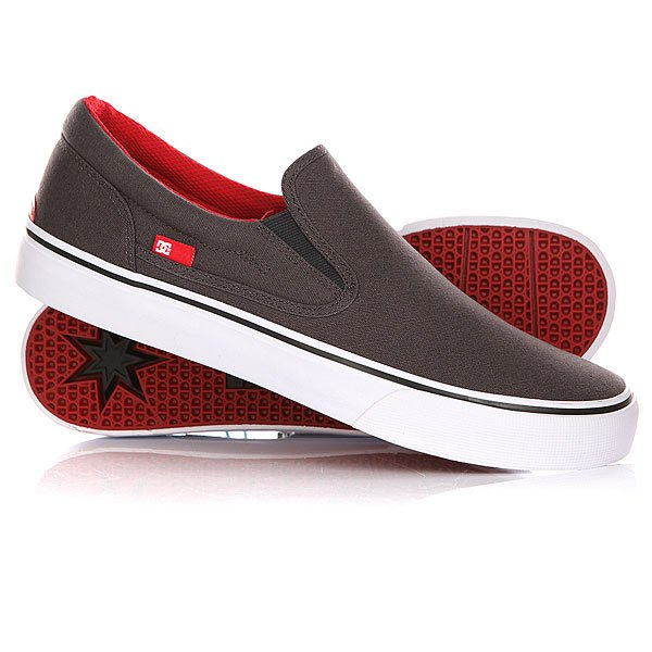 Слипоны DC Trase Slip-on TX Grey/Black/Red