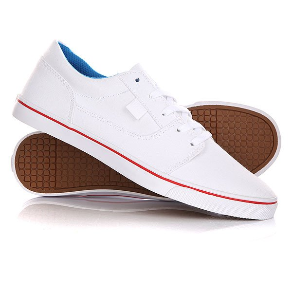 Кеды кроссовки низкие женские DC Tonik W Tx White/Red/Blue